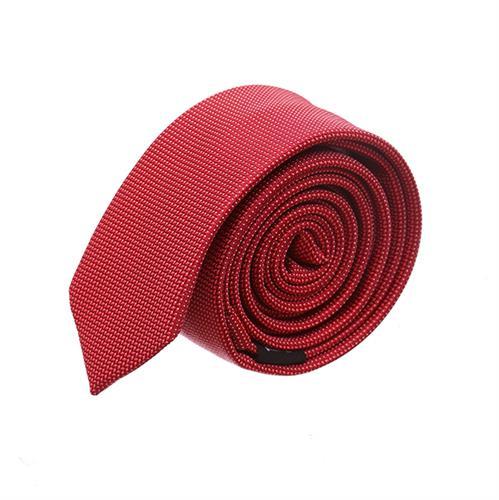 עניבה סלים מדוגמת אדום נועז