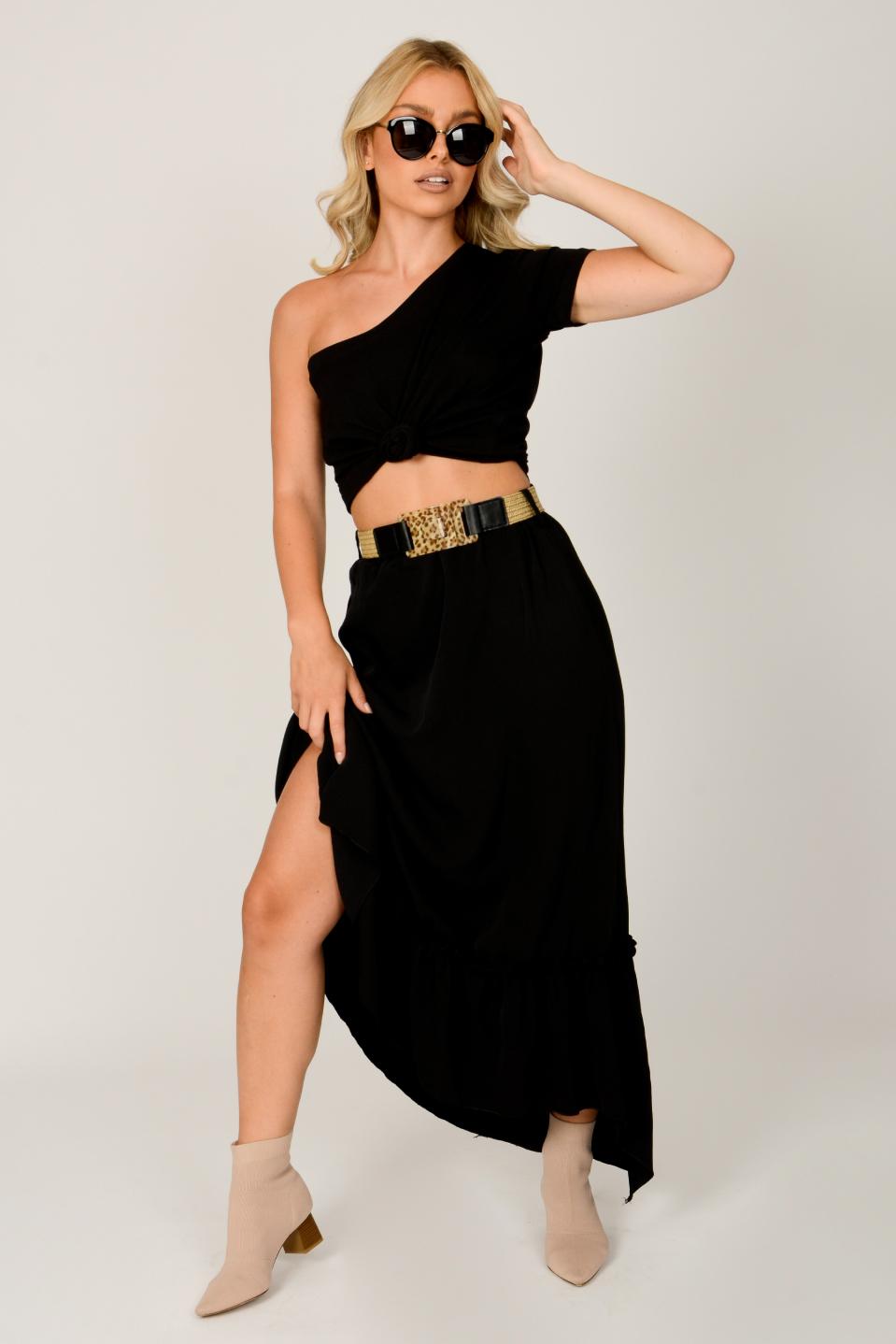 חצאית שירן וולן שחור