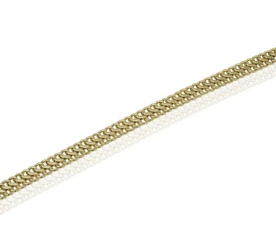 צמיד זהב חוליות בינוני לאישה בסגנון S