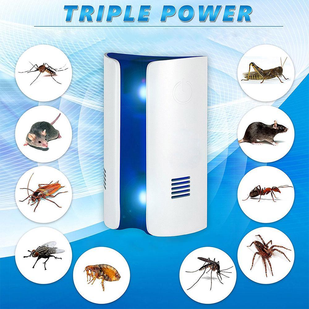 מכשיר הדברה אלקטרוני Triple Power סופר יעיל להרחקה ונטרול כל סוגי המזיקים