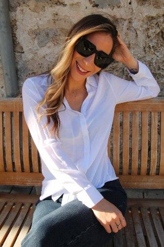 חולצת נלי קלאסית לבנה