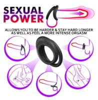 טבעת איכותית לזין ולביצים סילקון בצבע שחור