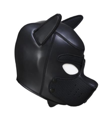 ראש כלבלב בצבע שחור