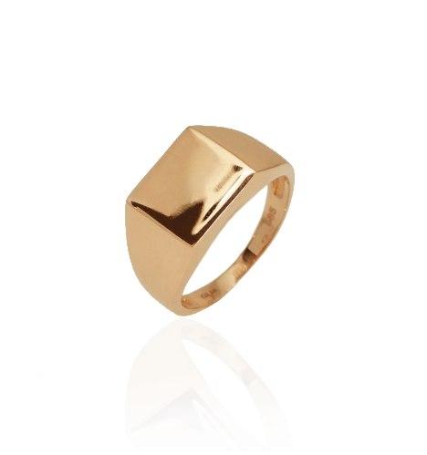 טבעת זהב ורוד לגבר|טבעת חותם גבר