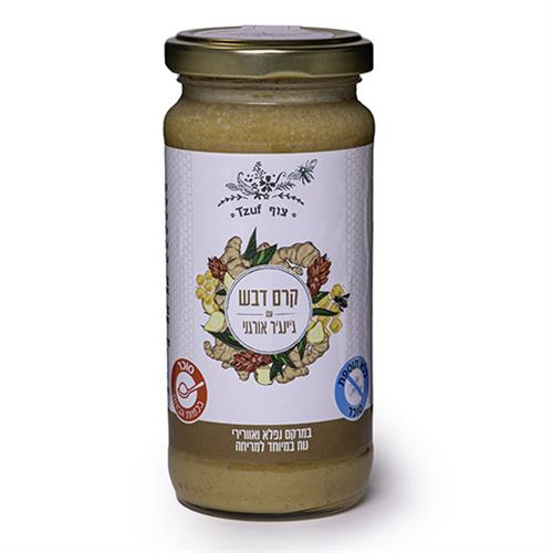 קרם דבש עם ג'ינג'ר אורגני - 300 גרם