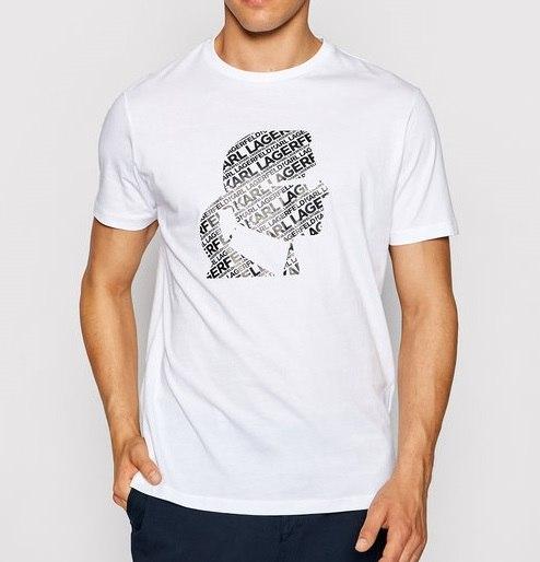 גברים | KARL LAGERFELD T-SHIRT CAPTION WHITE