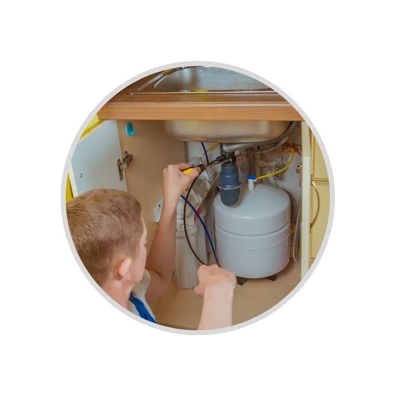 התקנת מערכת טיהור מים