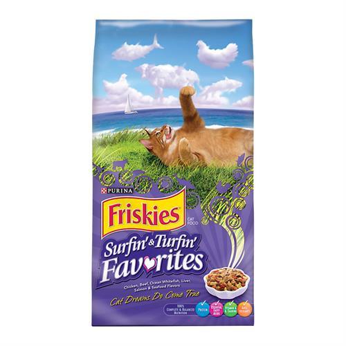 """פריסקיז מעדני החתול מזון לחתולים 2.9 ק""""ג Friskies Surfin & Turfin"""