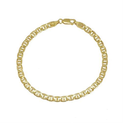 צמיד חוליות זהב איטלקי צהוב 14 קרט