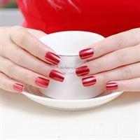 לק אפקט המראה- chrome nail art