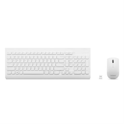 מקלדת ועכבר עברית אנגלית Lenovo 510 Wireless GX30W75337 - צבע לבן
