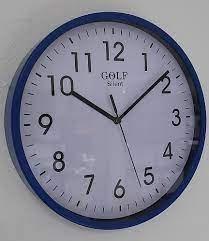 שעון קיר שקט גולף GOLF כחול