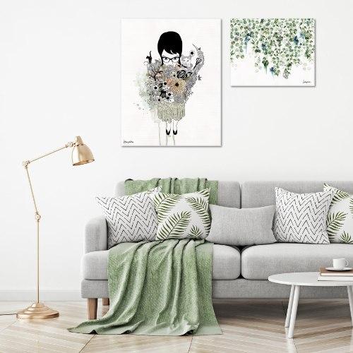 סט הדפסים לסלון צבעוני