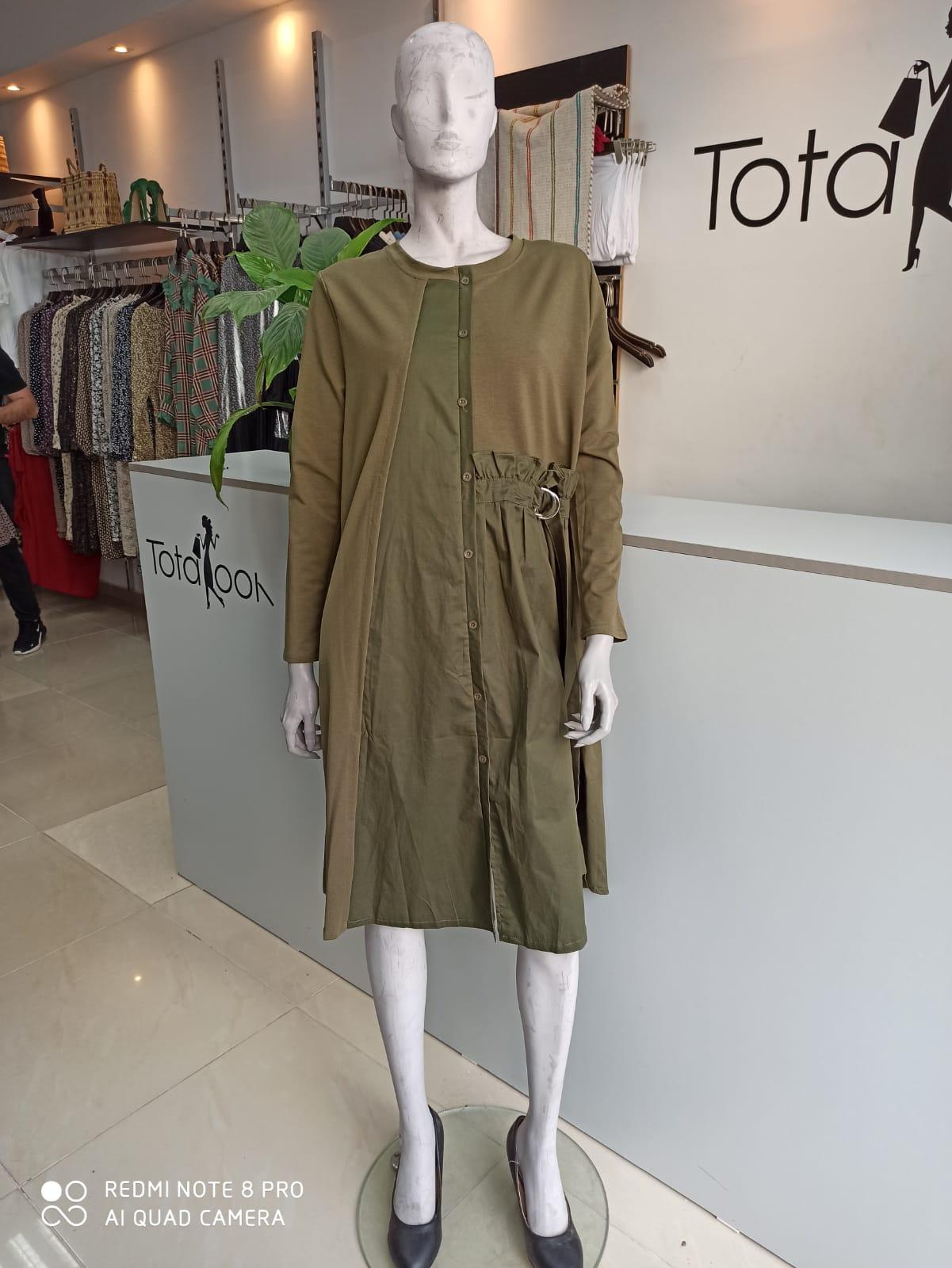 שמלת ג'ייד ירוק זית