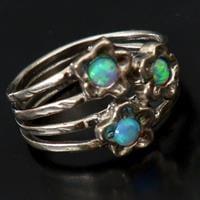 טבעת כסף משובצת אופאל כחול RG5177