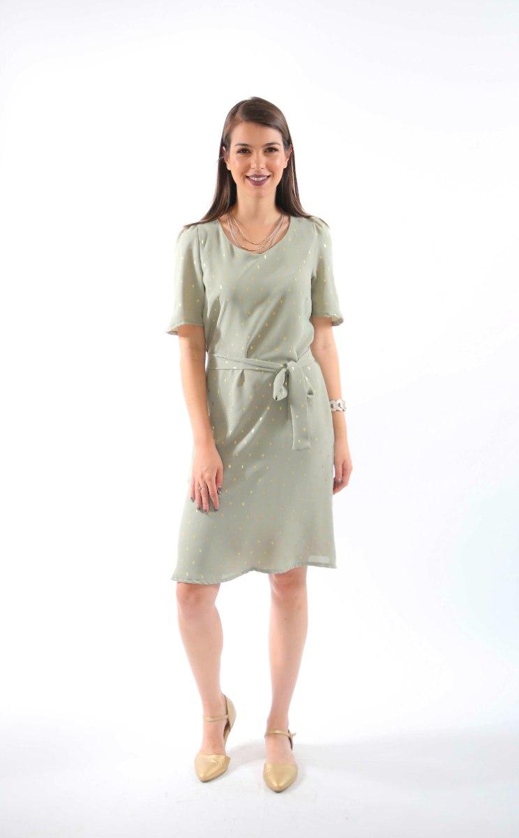 שמלת רונה ירוק בהיר