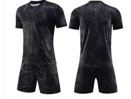 חליפת כדורגל צבע שחור (לוגו+ספונסר שלכם)