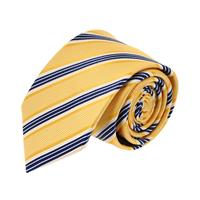 עניבה פסים קלאסית צהוב כחול