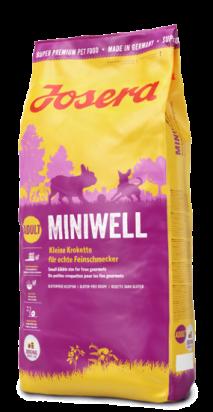 """ג'וסרה מיניוול לכלב בוגר גזע קטן 15 ק""""ג - JOSERA MINIWELL 15KG"""