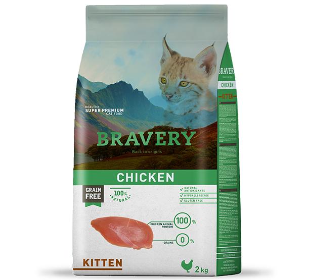 """ברוורי מזון לגורי חתולים ללא דגנים 2 ק""""ג"""
