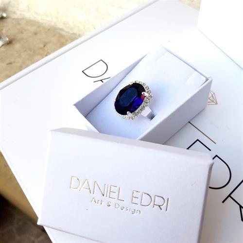 טבעת קריסטל -סגול