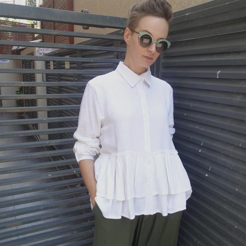 חולצת סנואו לבנה