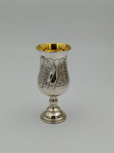 גביע קידוש כסף טהור דגם מחולק