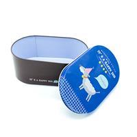 קופסת אחסון מפח - it's a happy dog כחול וחום