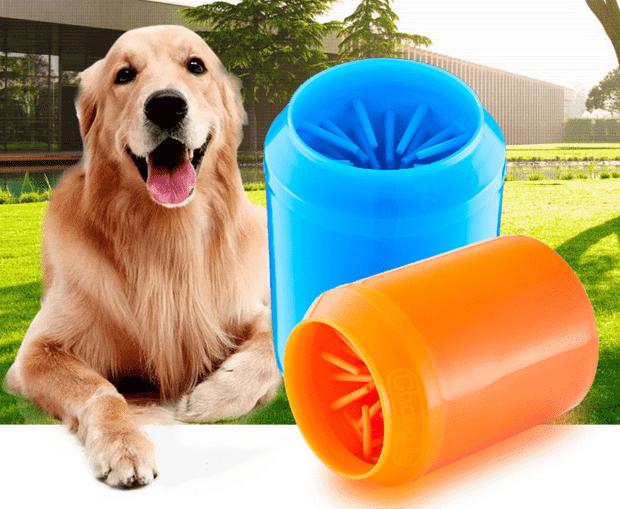 כלי לניקוי כפות רגליים לכלב