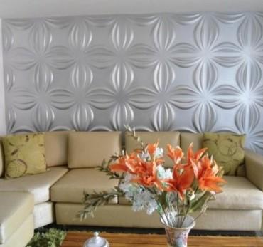 חיפויי קיר תלת מימדי דגם ''lily'' בגודל 50X50