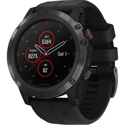 שעון דופק Garmin fenix 5X Plus Sapphire Black with Black Band