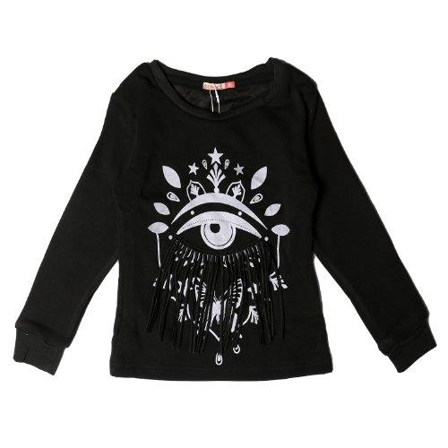 חולצת פוטר עם פרווה עין בנות