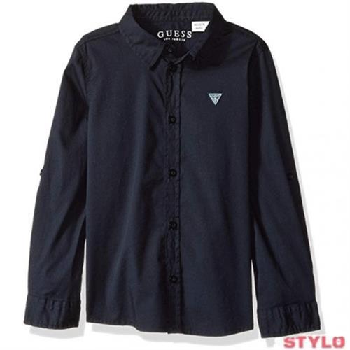 חולצה מכופתרת שחורה GUESS - מידות 4 עד 16 שנים