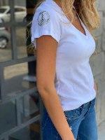 חולצת פיס לבן THOMAS
