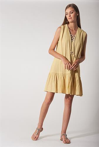 שמלת אליה צהובה פסים