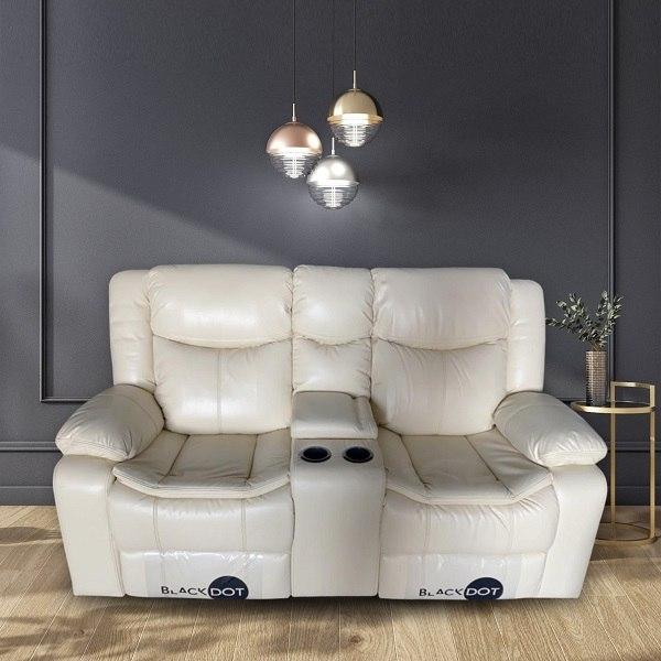 ספה 2 מושבים ג'ק מרלו (עור בז ')