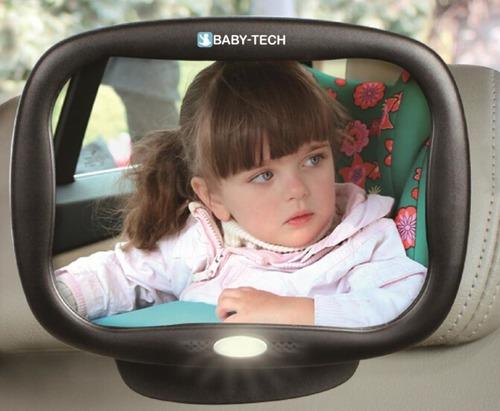 מראה מתכווננת עם תאורת לד ושלט רחוק לרכב