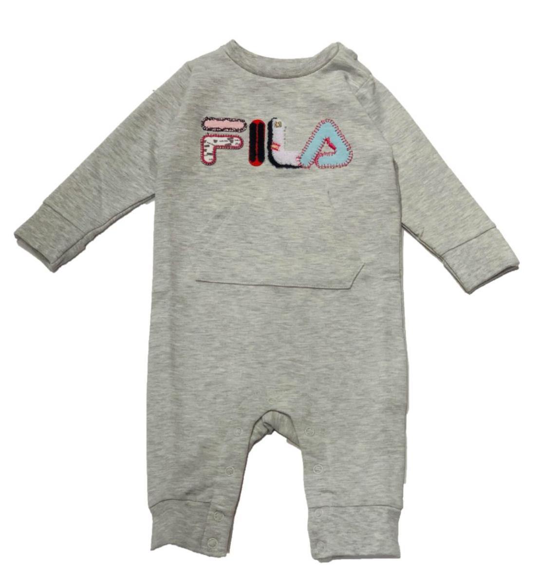 אוברול אפור בייבי בנים FILA - מידות 0-12 חודשים