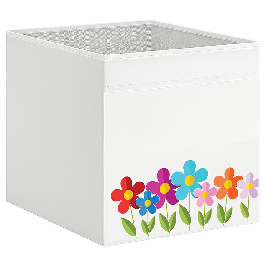 קופסת אחסון לכוורת עם הדפס- פרחים
