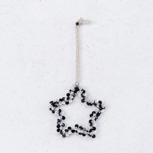 כוכב כפתורים - שחור לבן