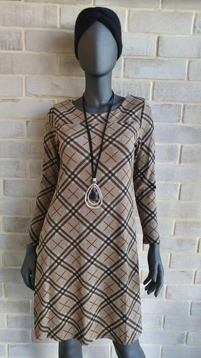 שמלת לין פליז מודפס