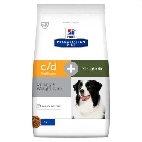 """מזון רפואי לכלבים הילס מולטיקייר + מטבוליק C/D 12 ק""""ג Hill's Prescription Diet c/d Multicare + Metab"""