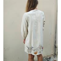 שמלת קמיל קנווס רקום