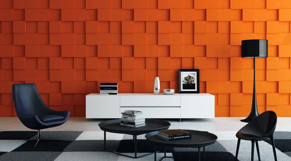 חיפויי קיר תלת מימדי דגם ''rubik'' בגודל 50X50