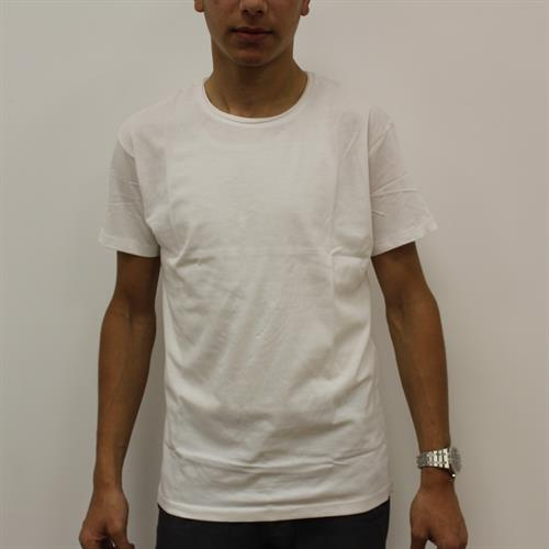חולצה צוואר עיצוב מגולגל לבן