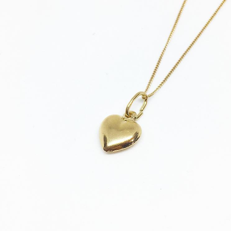 שרשרת לב רטרו מיני זהב