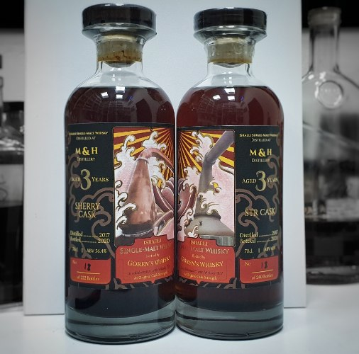 PRE-SALE Goren's Whisky Milk & honey 3 y.o. Duo (2X700ml.) - Sherry & STR single casks