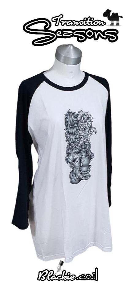 חולצה אמריקאית צבע שחור הגפס גראפי קומבינשין 4