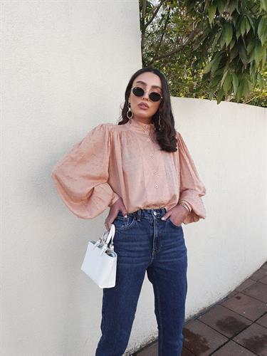 חולצת בליז - ורודה