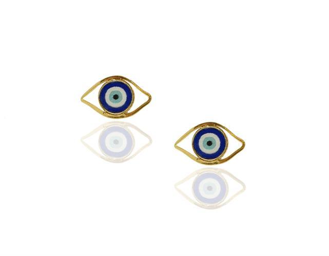 עגילי עין הרע בזהב 14K | עגילי עין | תכשיטי עין